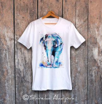 мъжка тениска азиатски слон