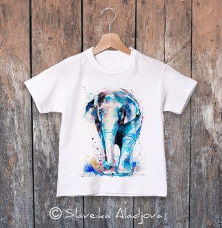 детска тениска с азиатски слондетска тениска с азиатски слон