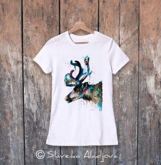 дамска тениска със северен елен