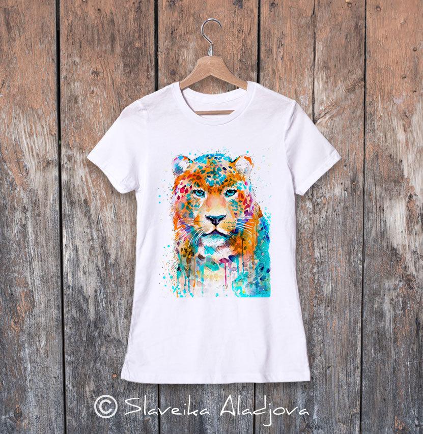 дамска тениска цветен леопард