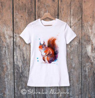 дамска тениска с катерица