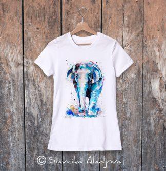 дамска тениска азиатски слон