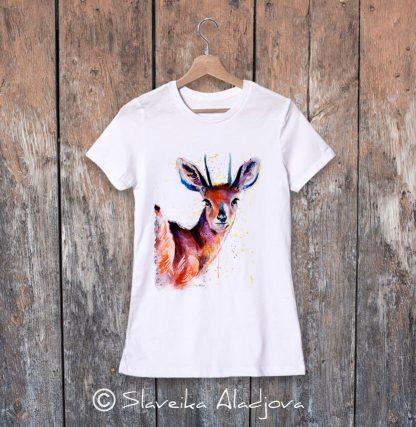 дамска тениска африканска антилопа
