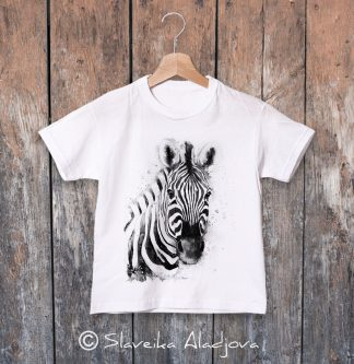 детска тениска зебра