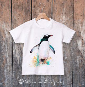детска тениска с пингвин 2