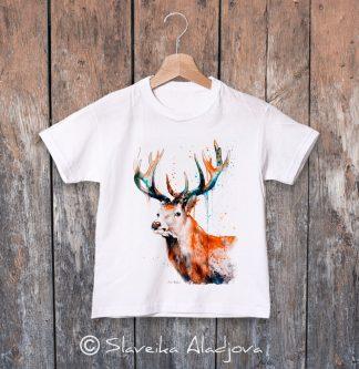 детска тениска с елен