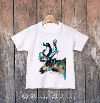 детска тениска северен елен