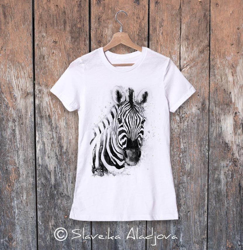 дамска тениска със зебра