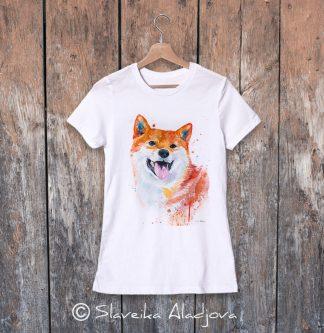 дамска тениска с акита