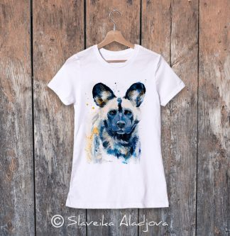 дамска тениска диво куче