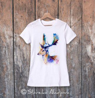дамска тениска елен лопатар