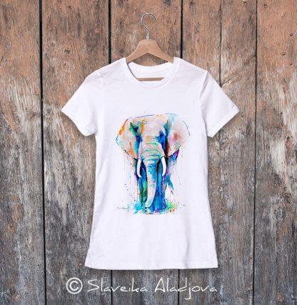 дамска тениска африкански слон