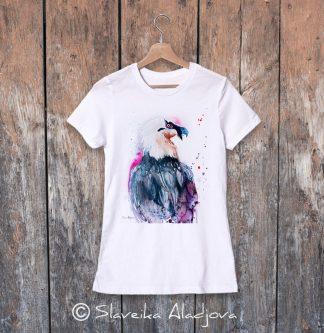 дамска тениска с брадат лешояд