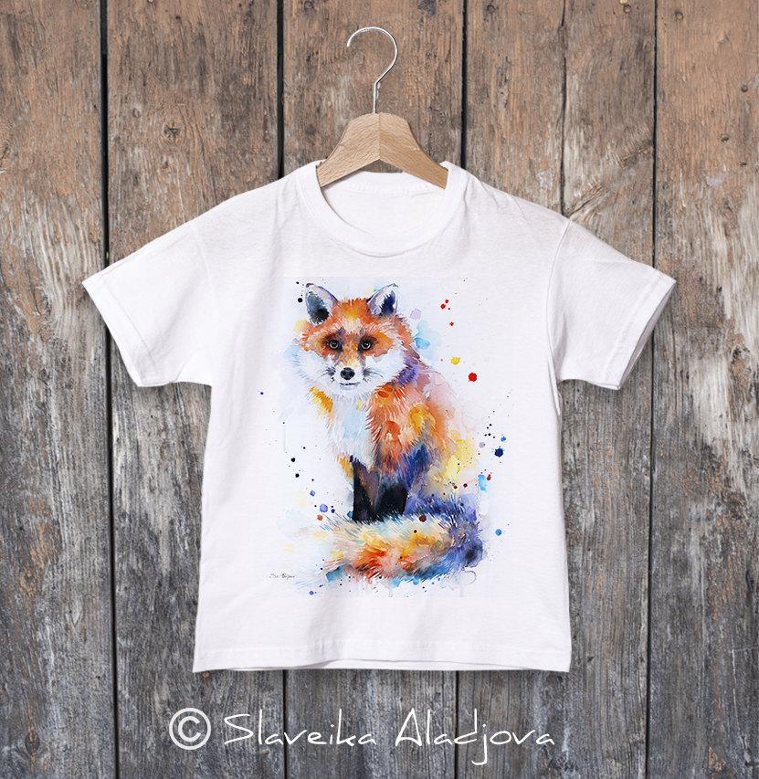 детска тениска с лисица