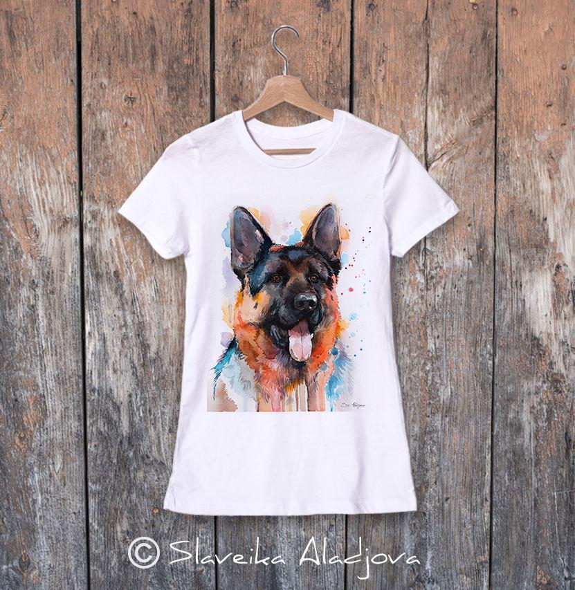 дамска тениска с немска овчарка