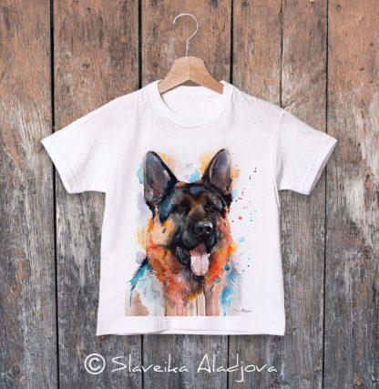 детска тениска с немска овчарка