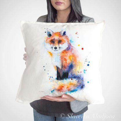 декоративна възглавница с лисица