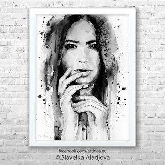картина жена черно бяла