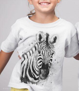 Детска тениска със зебра