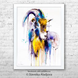 картина на коза