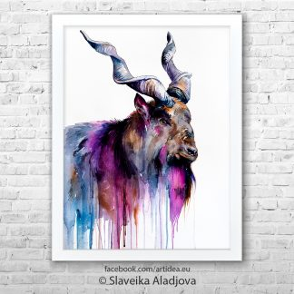 картина на кози рог