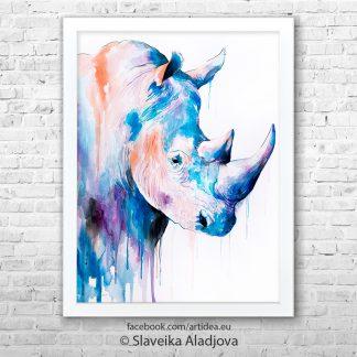 картина на носорог