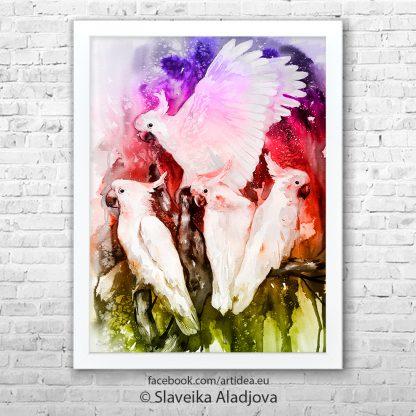 картина на папагали