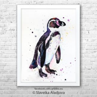 картина пингвин 3