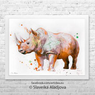 картина носорог 4