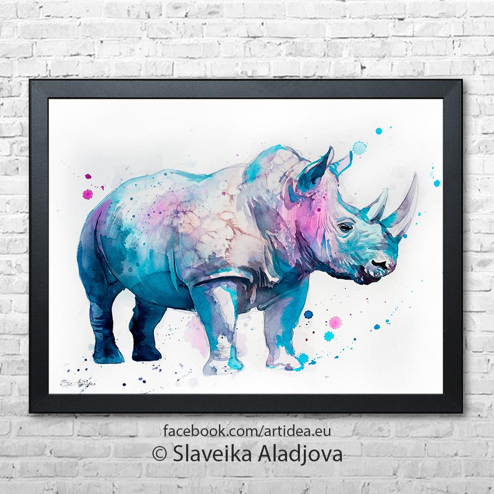 картина на носорог 3