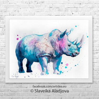 картина носорог 3