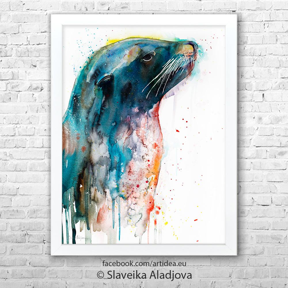 картина на морски лъв