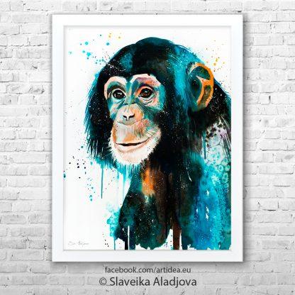 картина на шимпанзе