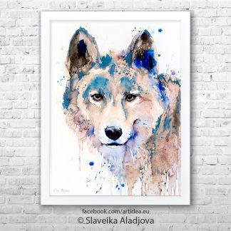 картина сив вълк