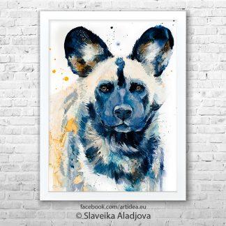 картина на диво куче
