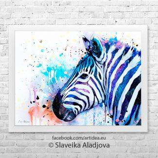 картина със зебра 5