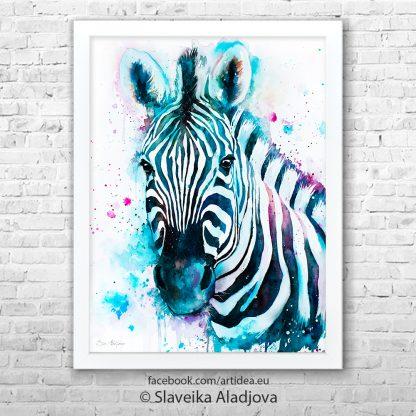 картина със зебра 2