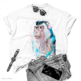 Тениска с макак