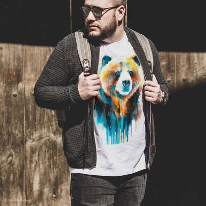 Тениска с мечка гризли
