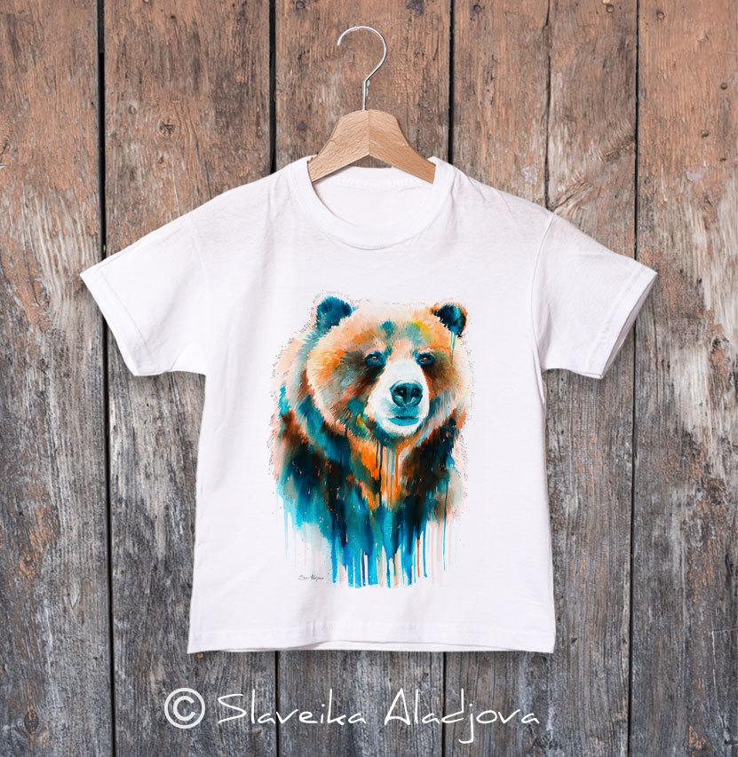 детска тениска мечка гризли