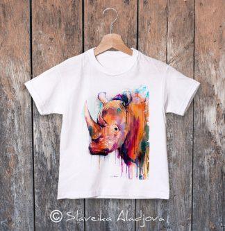 детска тениска носорог