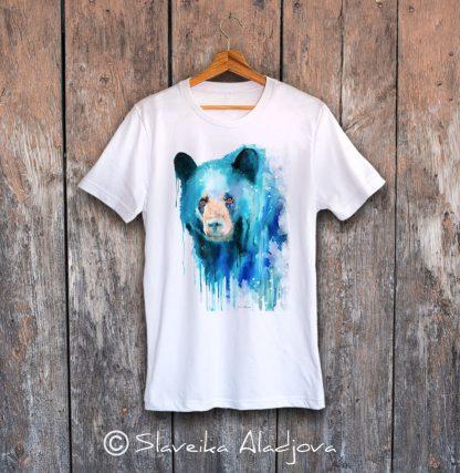 мъжка тениска черна мечка
