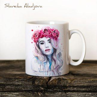 чаша жена с корона от рози