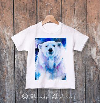 детска тениска с полярна мечка