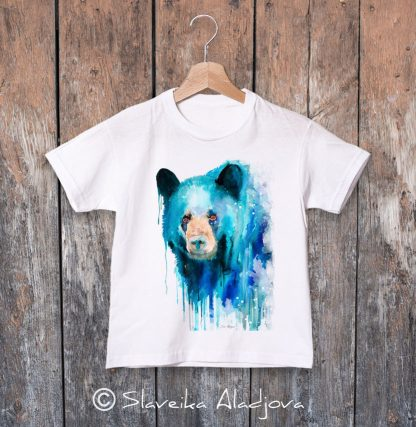 детска тениска черна мечка