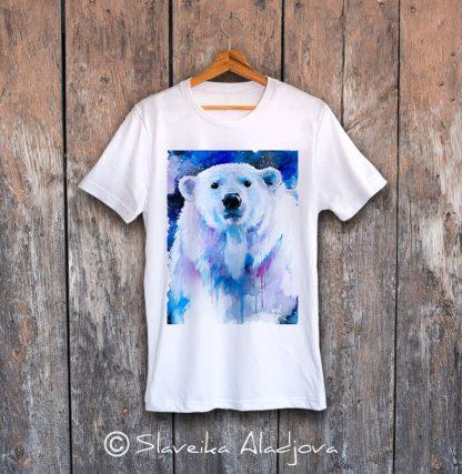 мъжка тениска полярна мечка