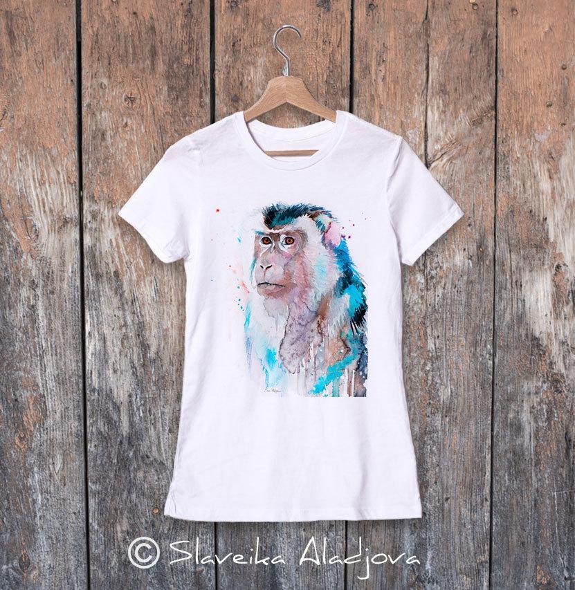 дамска тениска с макак