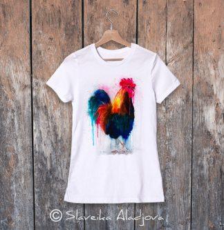 дамска тениска с петел