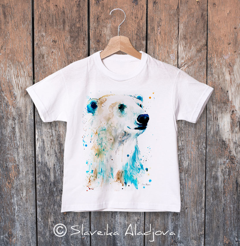 детска тениска полярна мечка 2