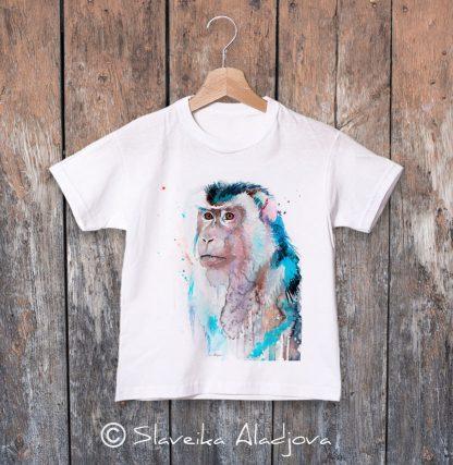 детска тениска с макак